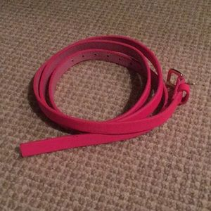 Size large Neon Pink skinny J Crew belt